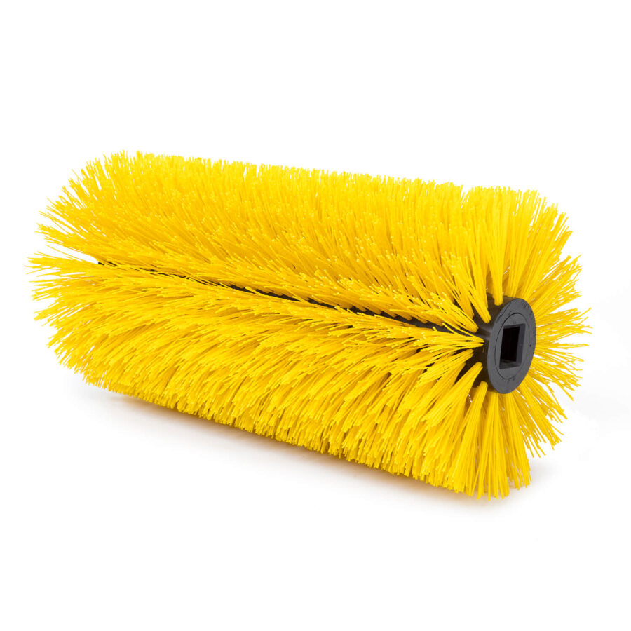 Road sweeping roller brushes