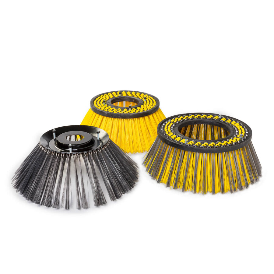 Gutter brushes and cleaning brushes