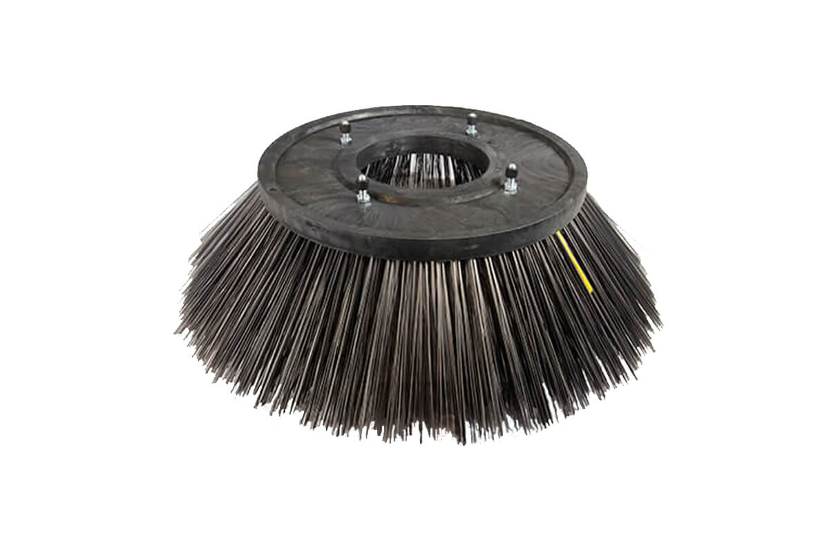 Veegborstel met kunststof plaat gestanst veeg en onkruid - KOTI